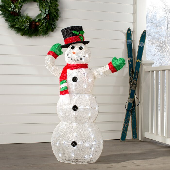 Crystal Snowman Christmas Indoor/Outdoor Decoration Lighted Display