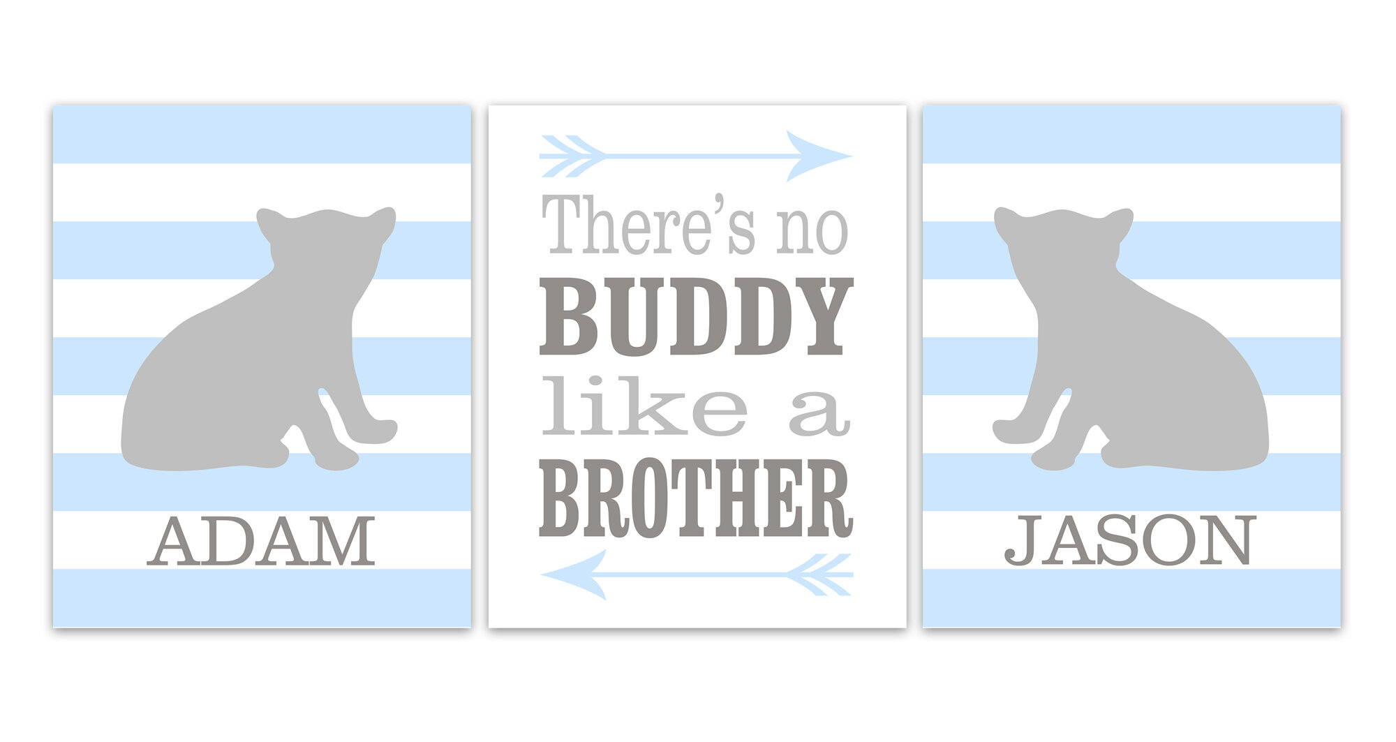 Kids Room Decor Boys Room Print Wall Art There Is No Buddy Like A Brother