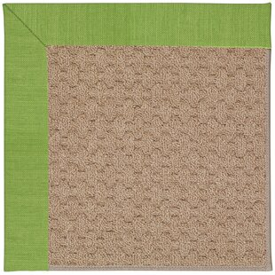 Lisle Machine Tufted Green/Brown Indoor/Outdoor Area Rug