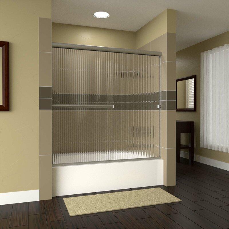 Arizona Shower Door Lete 56 X 55 Bypass Semi Frameless Tub Door Wayfair