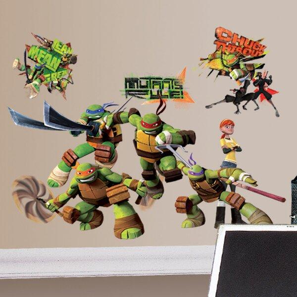 Room Mates Peel And Stick Teenage Mutant Ninja Turtles Wall Decal Reviews Wayfair