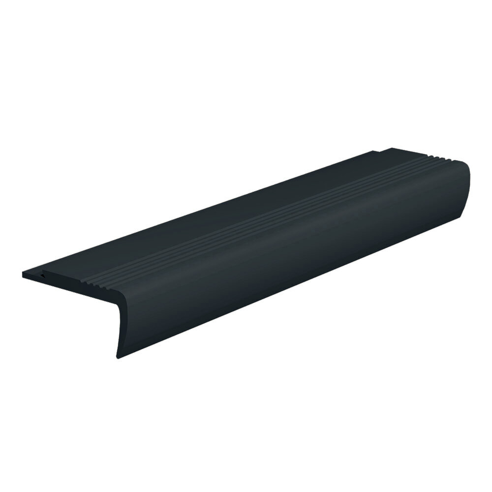 Roppe Rubber 0 13 Thick X 108 Wide X 2 75 Length Stair Nose In Black Wayfair