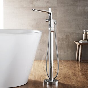 Find for Nova Single Handle Floor Mount Freestanding Tub Filler with Hand Shower By Vinnova