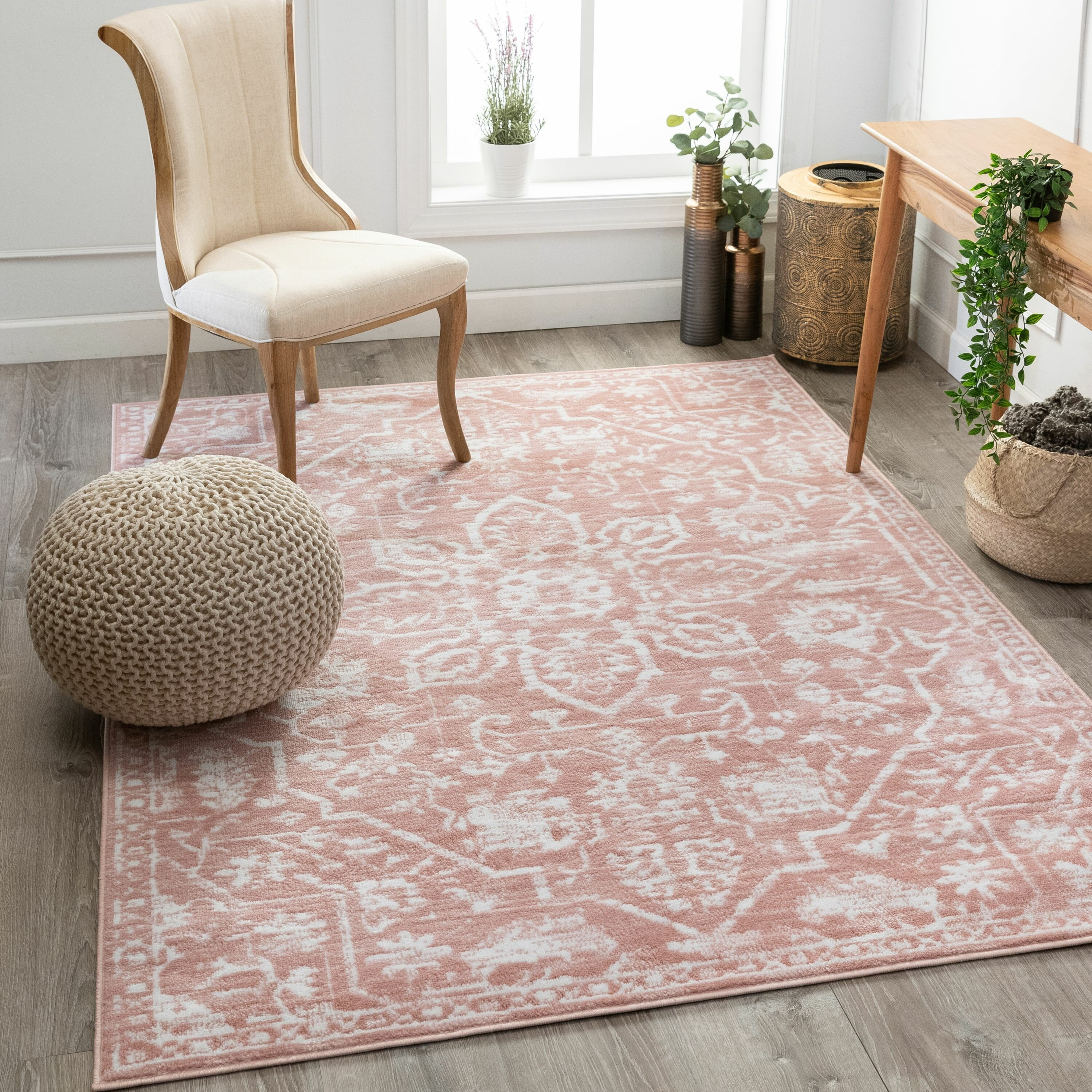 Well Woven Dazzle Power Loom Pink White Rug Reviews Wayfair Co Uk
