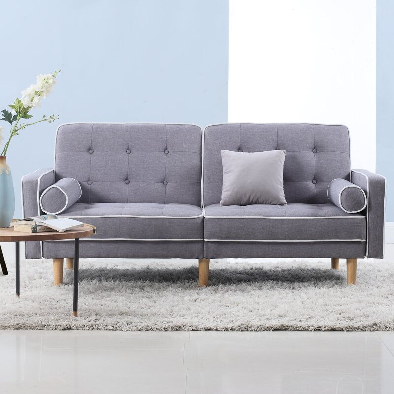 Couch modern  Madison Home USA Mid Century Modern Convertible Sofa & Reviews ...