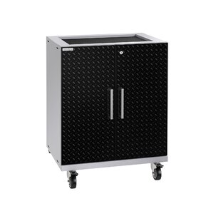 Performance Plus 2.0 Diamond Plate Series Base 37.25 H x 28 W x 22 D Storage Cabinet by NewAge Products