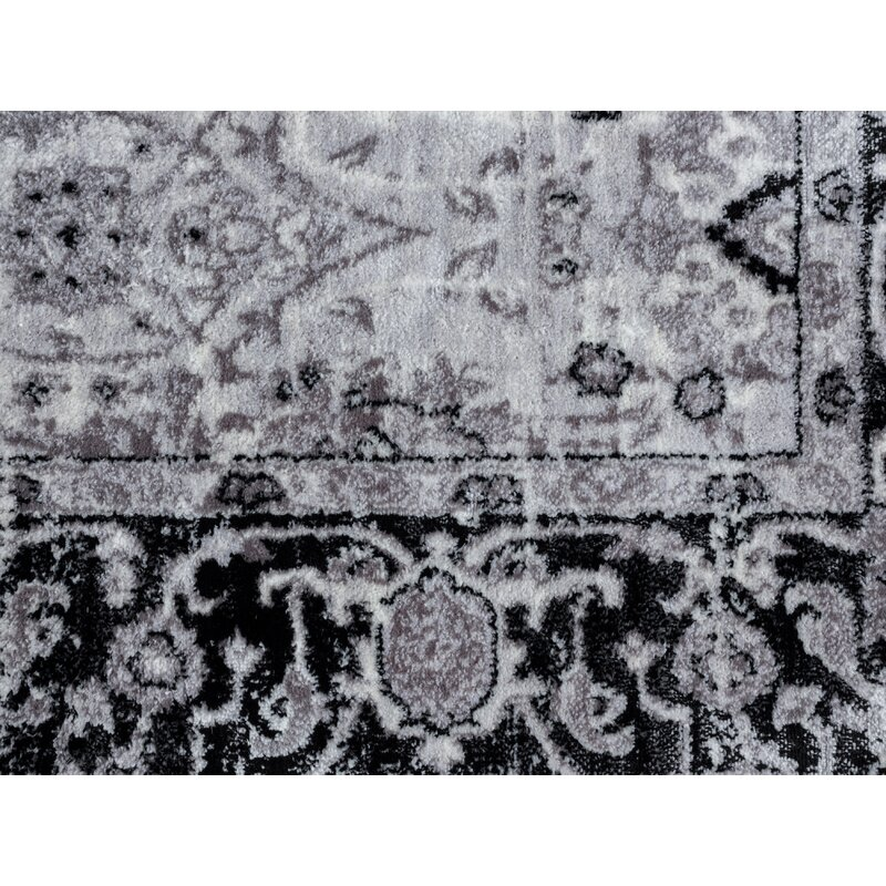 World Menagerie Bessoir Power Loom Black Ivory Rug Wayfair