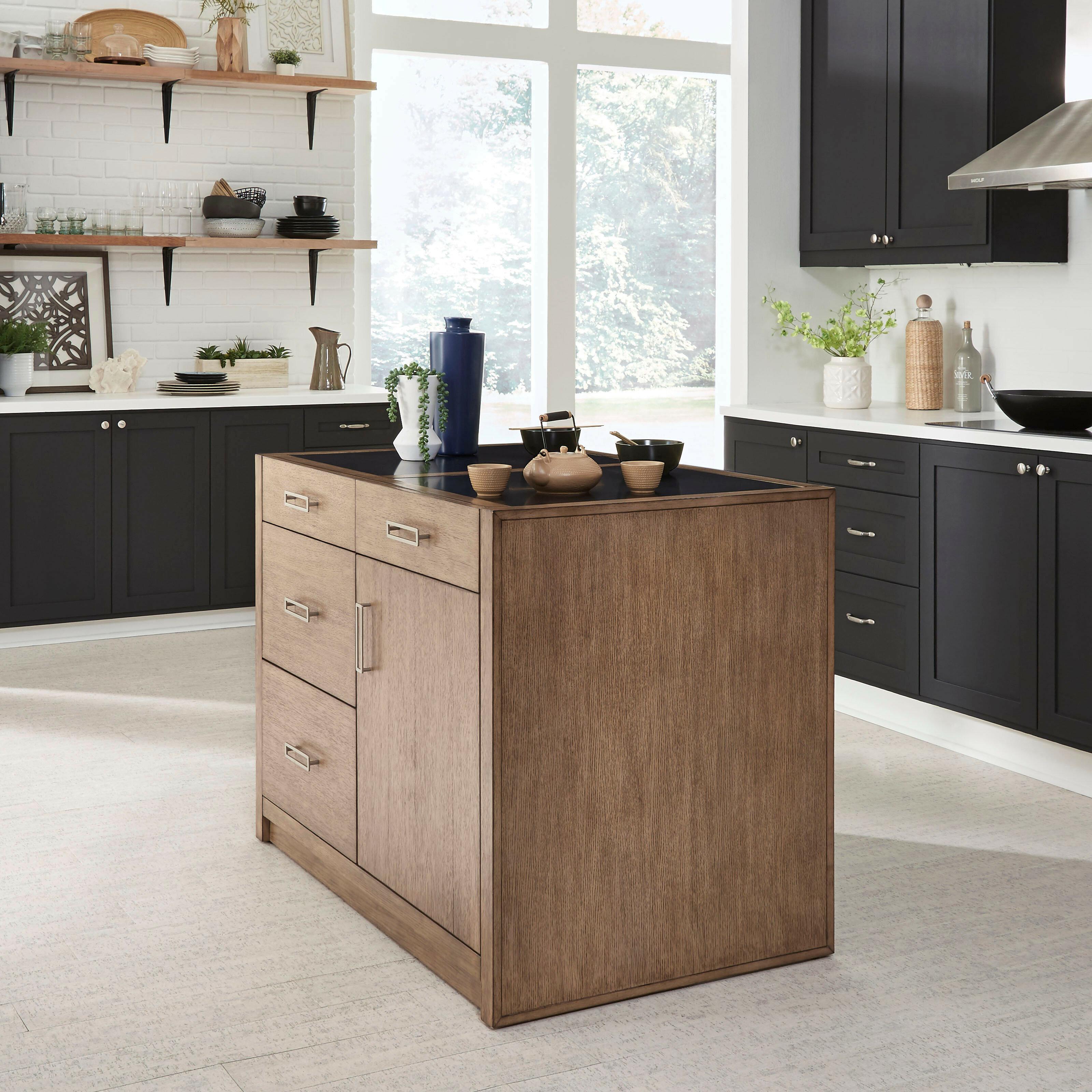 Mercury Row Bucher Kitchen Island Set With Quartz Top Wayfair