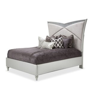 Melrose Plaza Upholstered Panel Bed by Michael Amini