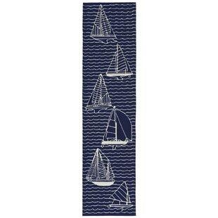 Northfield Sails Water Resistant Handmade Navy Indoor/Outdoor Area Rug
