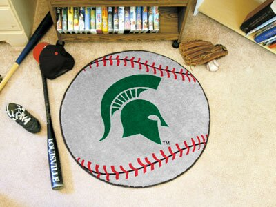 Fanmats Ncaa Michigan State University Baseball 27 In X 27 In Non Slip Indoor Only Mat Wayfair