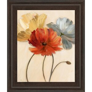 'Poppy Palette I' Framed Painting Print