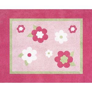 Flower Pink Area Rug