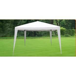 Wedding Party 10 Ft. W x 10 Ft. D Steel Pop-Up Canopy by Strong Camel