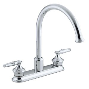 Kohler Coralais Three-Hole Kitchen Sink Faucet with 9