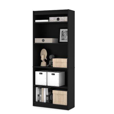 Alves Standard Bookcase Bookcase Color: Black by Mercury Row