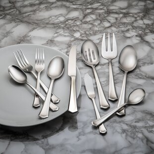 Barberry 45 Piece Stainless Steel  Flatware Set