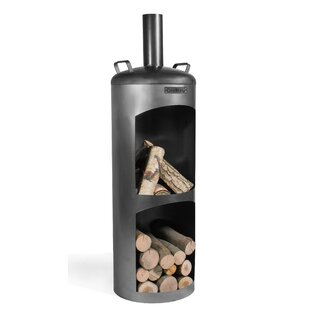 Faro Steel Wood Burning Chiminea By Norfolk Leisure