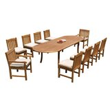 Justyn 11 Piece Teak Dining Set