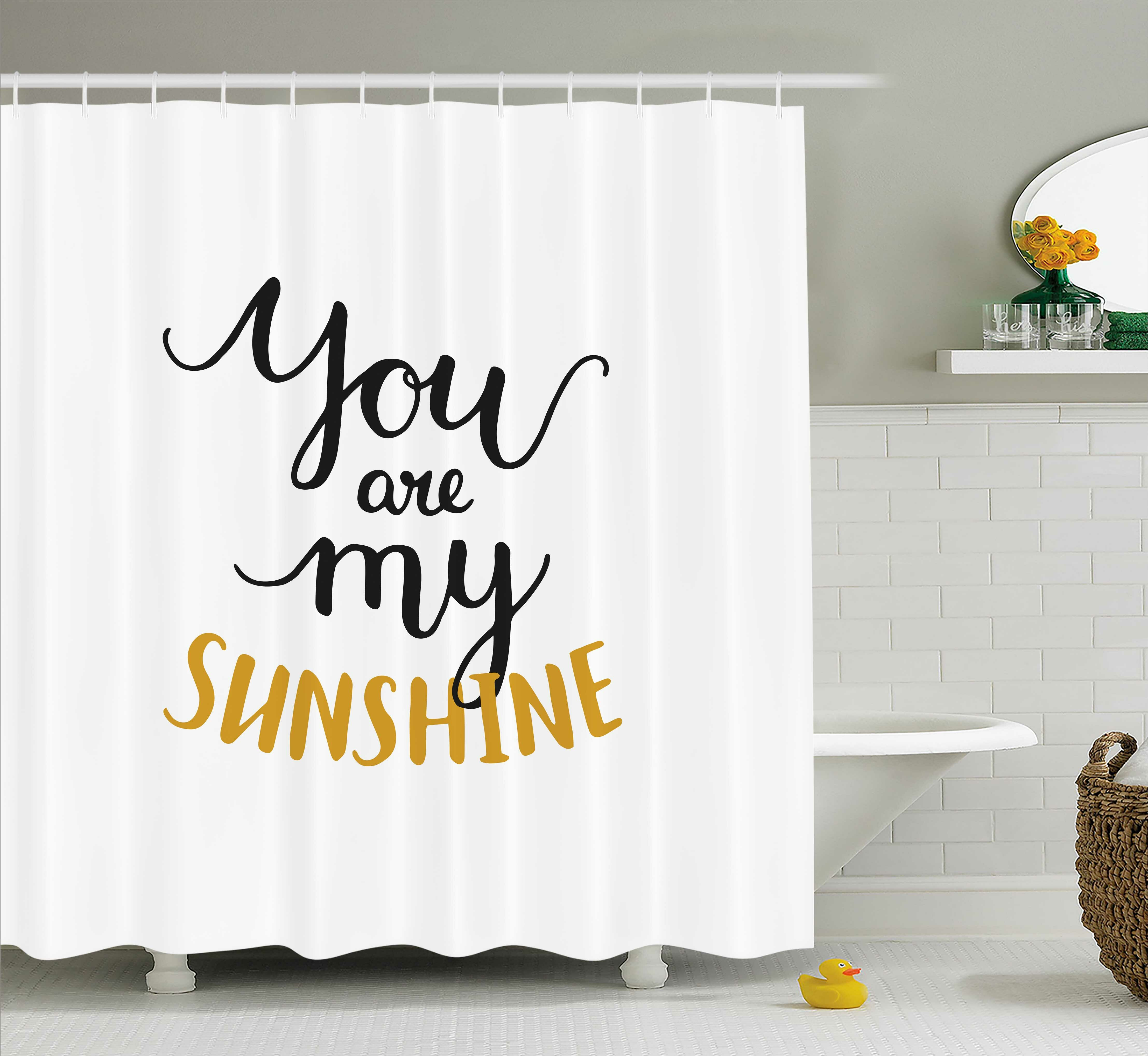 Huis New Luxury Shower Curtain Waterproof Quote Funny