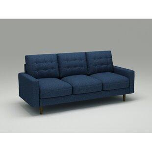 Ruthe Velvet 72 Square Arms Sofa