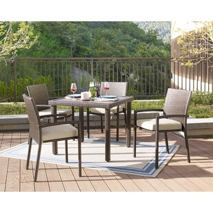 Bassham 5 Piece Dining Set with Cushions
