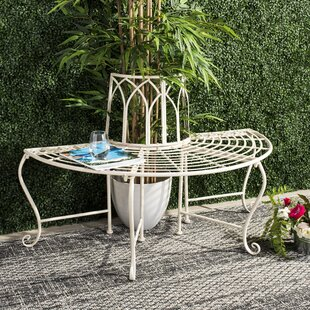 Hounsfield Wrought Iron Tree Bench by Ophelia & Co.