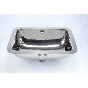 Check Prices Metal Rectangular Undermount Bathroom Sink with Overflow ByBates & Bates