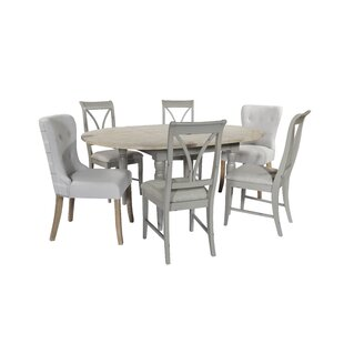 Brehm Extendable Dining Set With 6 Chairs By Brambly Cottage