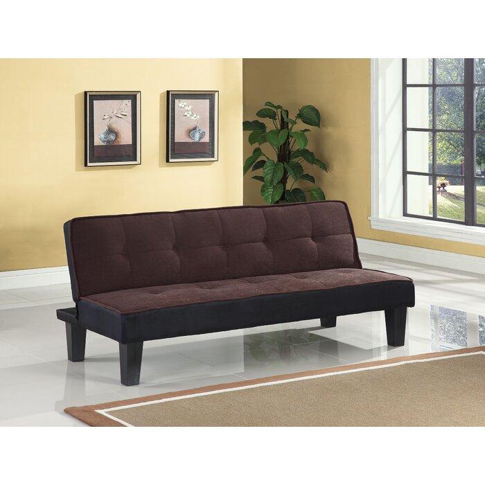 Jost Adjustable Flannel Fabric Convertible Sofa