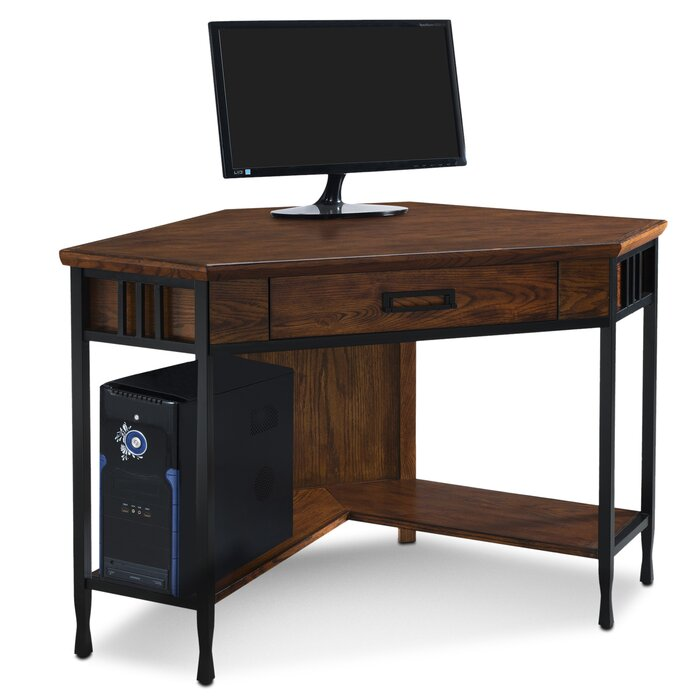 slate l single a series bush in expandable htm business corner desk pedestal