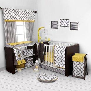 Reviews Bair Dots/Pin 9 Piece Crib Bedding Set ByHarriet Bee