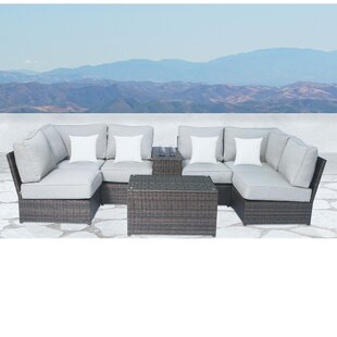 Simmerman 8 Piece Sectional Set With Cushions by Brayden Studio Great Reviews