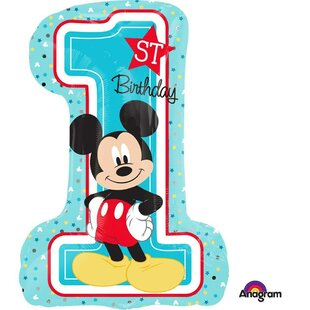 Mickey 1st Birthday Disposable Shape Balloon