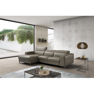 Low priced Quinton Leather Reclining Sectional by Orren Ellis Reviews (2019) & Buyer's Guide