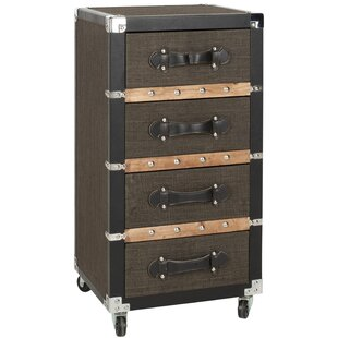 Order Brent 4 Drawer Rolling Accent Chest By Safavieh