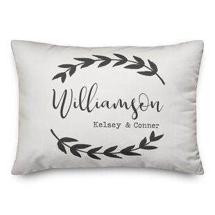 Charlcombe Branch Family Personalized Outdoor Lumbar Pillow