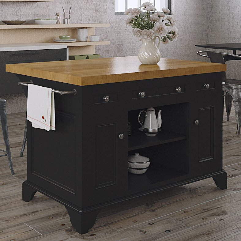222 Fifth Furniture Sutton Kitchen Island & Reviews | Wayfair