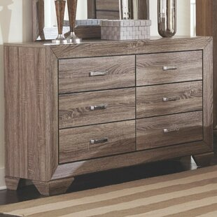 Shurtleff Transitional Style Wooden 6 Drawer Dresser