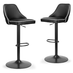 Dukes Adjustable Height Swivel Bar Stool (Set of 2) Orren Ellis
