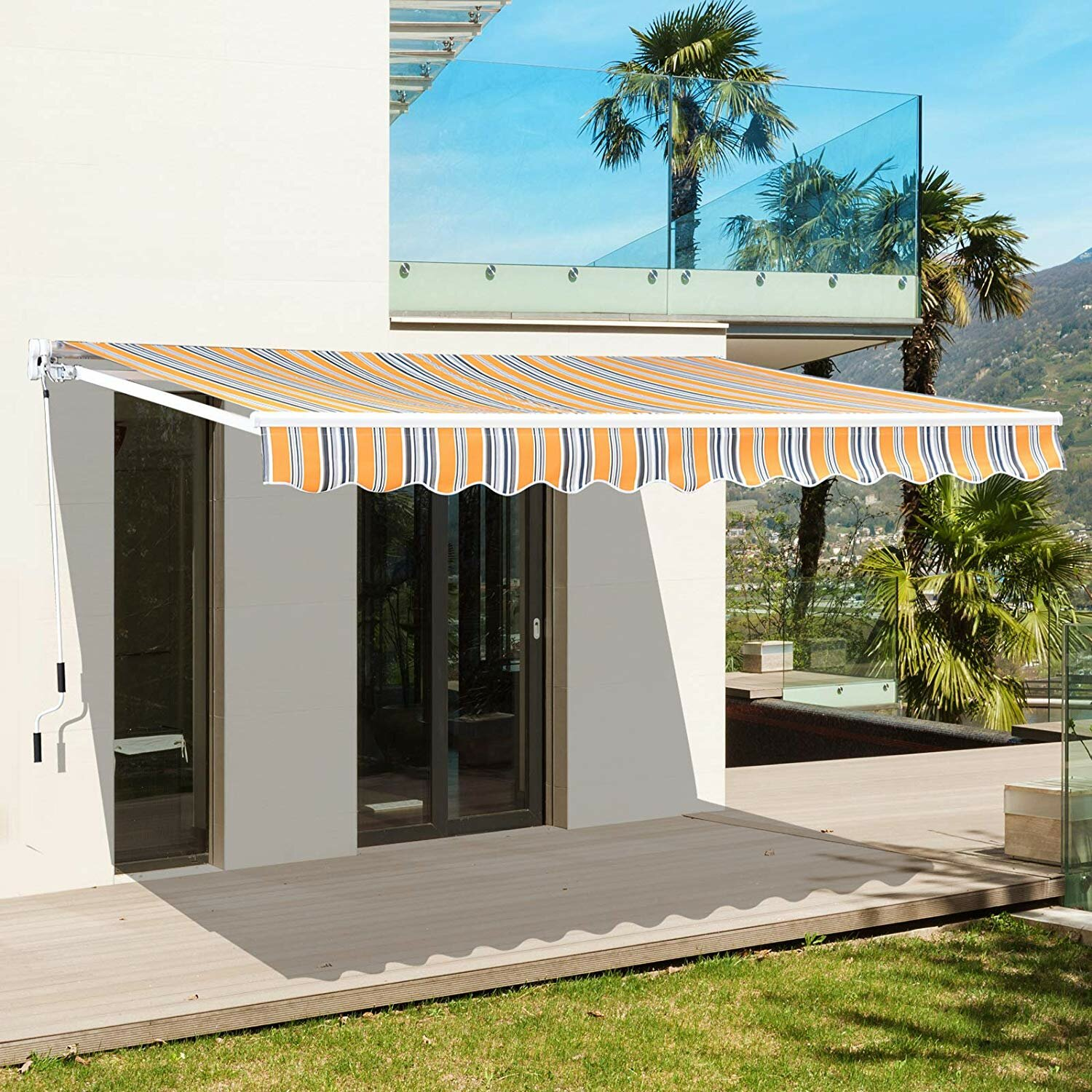 Outsunny Manual Sun Shade 8 Ft W X 7