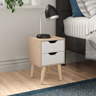 Poppy 2 Drawer Bedside Table By Zipcode Design
