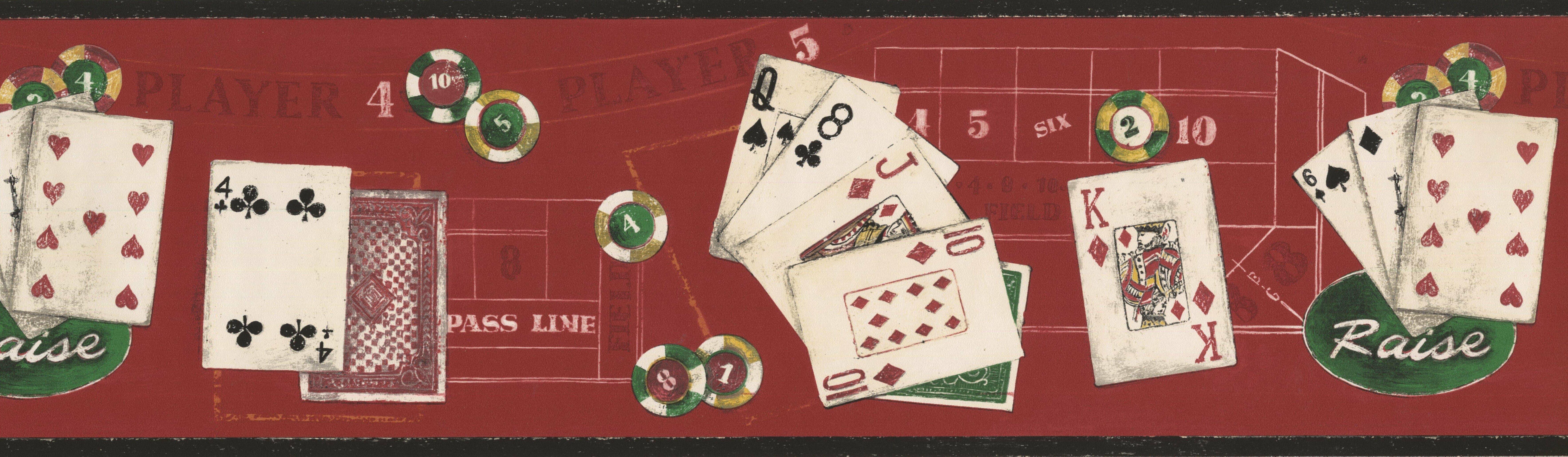 Winston Porter Detweiler Poker Chips Cards On Casino Table 15 L X
