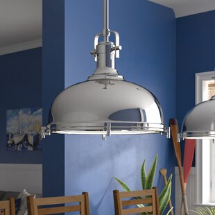 Lighthouse Point 1-Light Bowl Pendant by Beachcrest Home