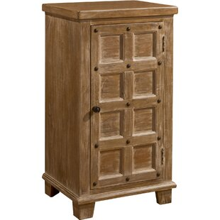 Geraci 2-Tier with Nailheads 1 Door Accent Cabinet by Bloomsbury Market