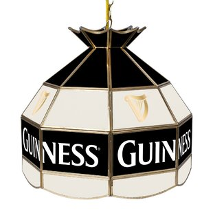 Guinness Stained Glass 1-Light Pool Table Lights Pendant by Trademark Global