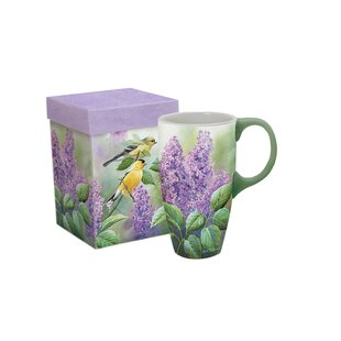 Dourdain Goldfinches and Lilacs Latte Mug