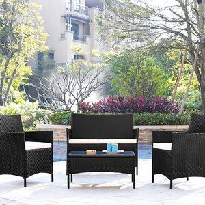 4-tlg. Sofa-Set mit Kissen von Home & Haus