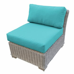 TK Classics Coast Armless Patio Chair wit..