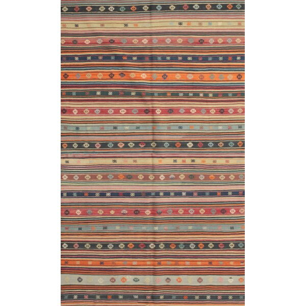 East Urban Home Contemporary Brown Maroon Green Area Rug Wayfair